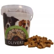 OLIVER'S SOFT SNACK GRAIN FREE DUCK 500 g (antienos skanėstas)