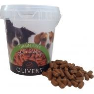 OLIVERS TRAINING BITES GRAIN FREE BEEF 500g (jautienos skanėstas)