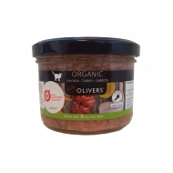 Olivers ORGANIC CHICKEN-TURKEY-CARROTS for cat konservai katėms 200g