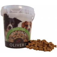 OLIVERS MINI TRAINING BITES GRAIN FREE CHICKEN 500g (vištienos skanėstas)