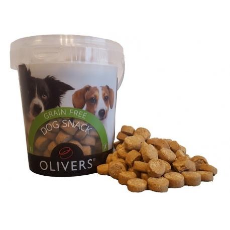 Olivers XL SNACKS GRAIN FREE SALMON 500g (XL begrūdžiai lašisos skanėstai)