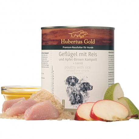 Hubertus Gold Dog Adult Poultry & Rice 800g