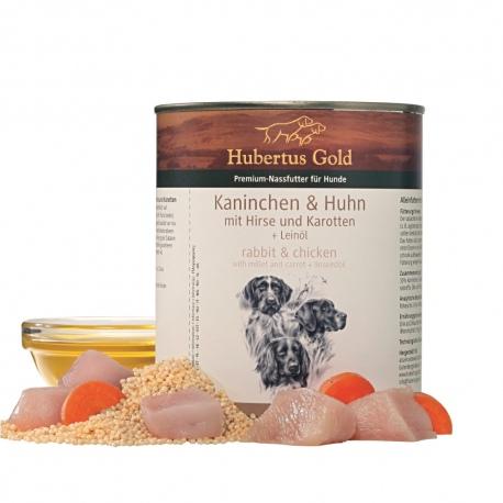 Hubertus Gold konservai su triušiena ir vištiena šunims 800g