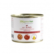OrganicVet Beef with pasta & salmon oil for cat 200g