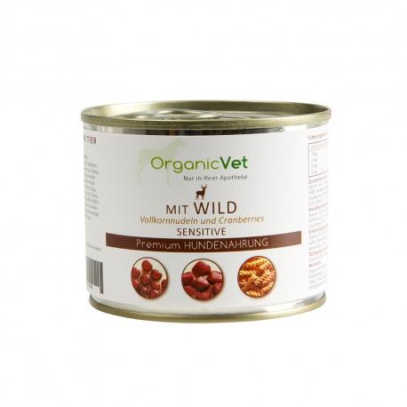 OrganicVet Venision with pasta & cranberries konservai šunims