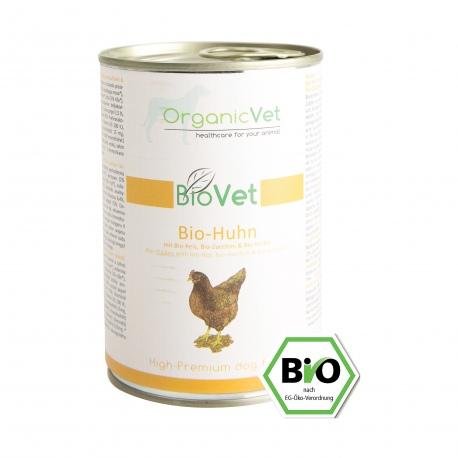 OrganicVet Biovet BIO CHICKEN konservas šunims 400g