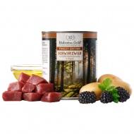 Hubertus gold ŠERNIENOS konservas su bulvėmis, gervuogėmis ir žolelėmis šunims 800g